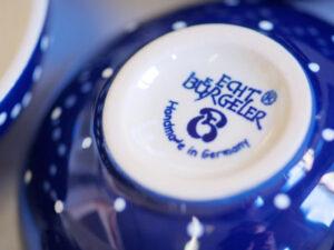 Blau weiße Bürgeler Keramik